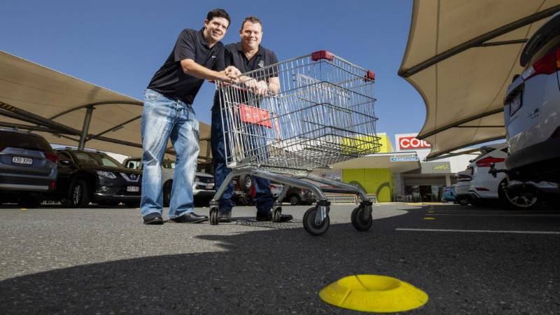 Image of Ash Dunbabin and Nathan Wood with Trolley Stopper
