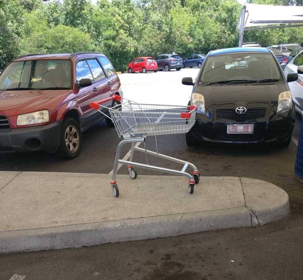 Where not to leave your trolley