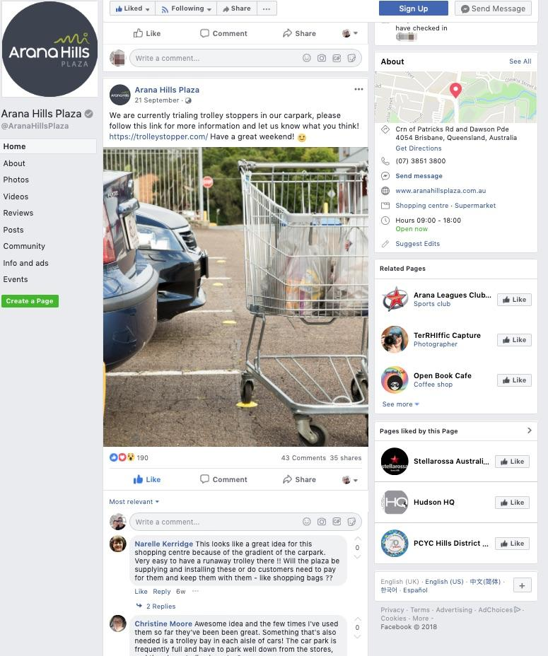 Facebook Trolley Stopper post