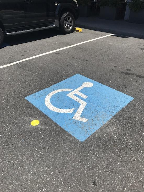 Trolley Stopper in disabled carpark