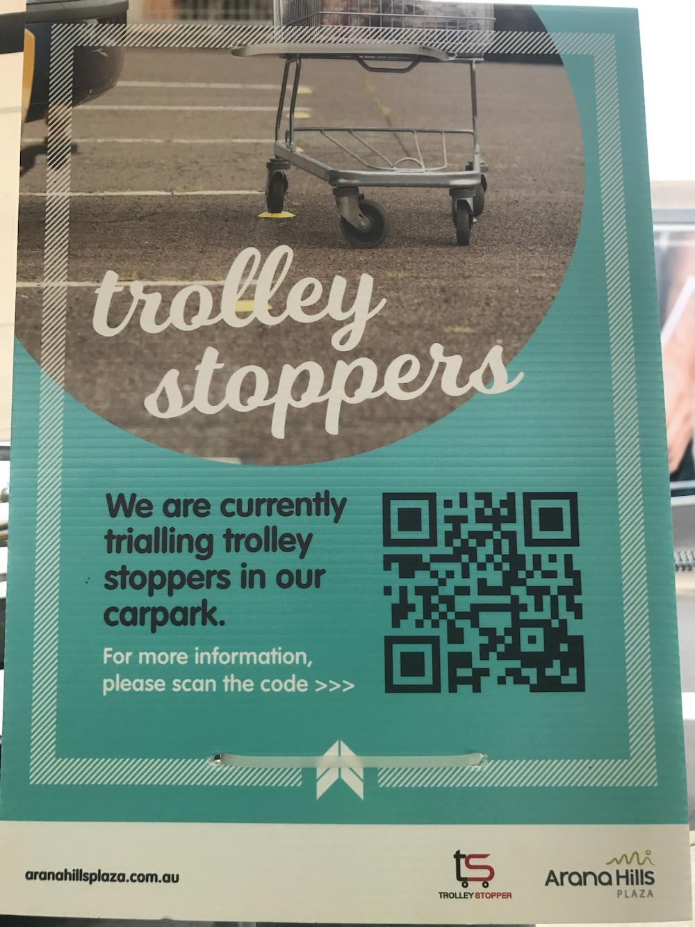 Trolley Stopper Information Sign