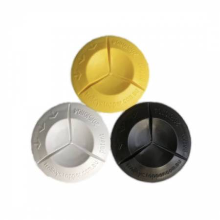Image of all Trolley Stopper colours - Yellow, White and Black