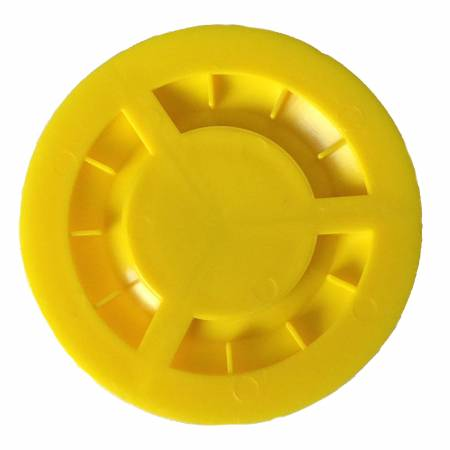 Image of the yellow Trolley Stopper depicting the underside fin structure